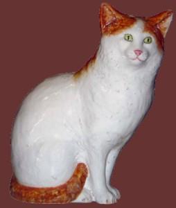 gatto in ceramica