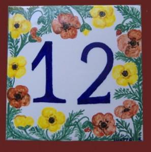 numero civico in ceramica
