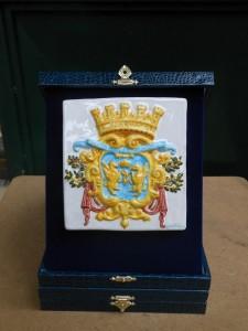 stemma in ceramica del comune di rapallo