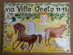 targa in ceramica per villa, la fattoria