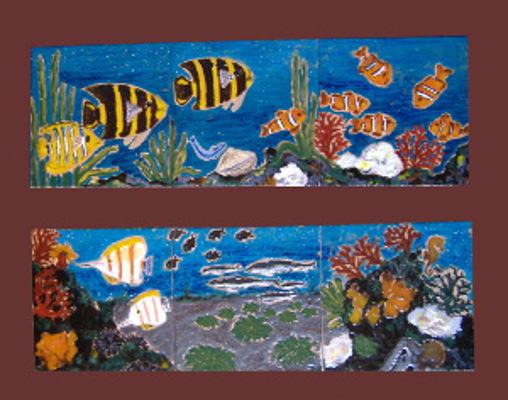 Rilievi e quadri di piastrelle ceramica lustig