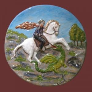 Tondo in ceramica S. giorgio