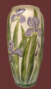 portaombrelli in ceramica con iris