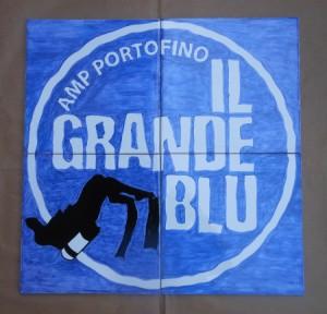 logo su piastrelle:il grande blu