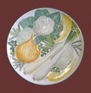 piatto verdure dipinto