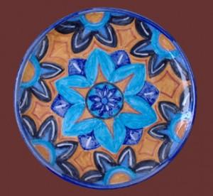 piatto da muro deco geometrica
