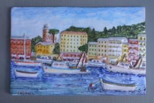 porto di S. Margherita Ligure in ceramica
