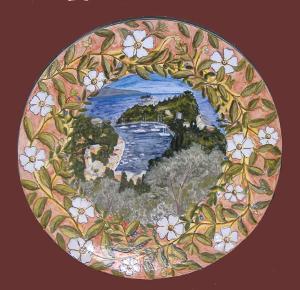 piatto Portofino con cistus salvifolium