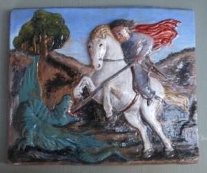 S. giorgio e il drago, ceramica
