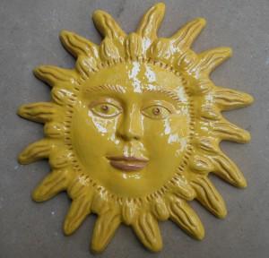 sole in ceramica smaltata fatto a mano