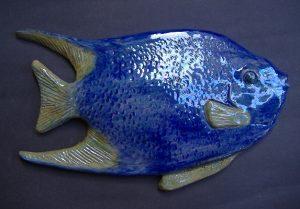 Pesce esotico in ceramica