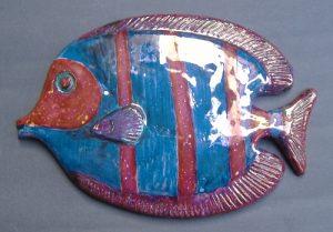 Pesce in ceramica da appendere a muro