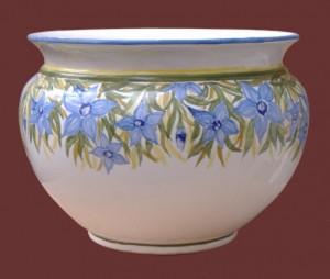 cache-pot in ceramica dipinto