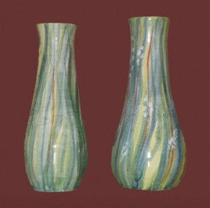 vasi da fiori dipinti con erbe