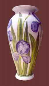 vaso da fiori con iris
