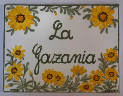 Piastrella con fiori dipinti a mano per villa ceramica artistica