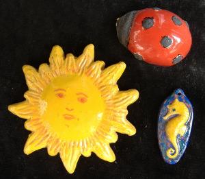 3 piccole bomboniere in ceramica fatte a mano