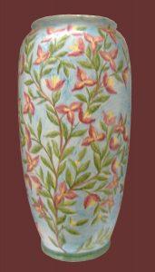 Portaombrelli dipinto a mano con bouganvillea