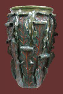 Vaso a rilievo foglie di Acanto