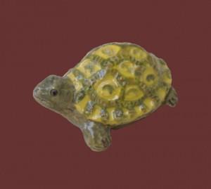 tartaruga da collezione in ceramica