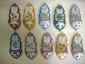 Acquasantiere da collezione in ceramica