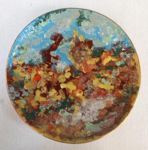 Piatti quattro stagioni dipinti a mano