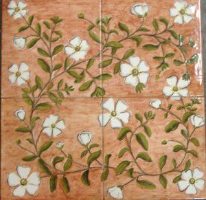 Puzzle di piastrelle con fiori macchia mediterranea: cisti