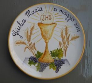 prima comunione piatto in ceramica