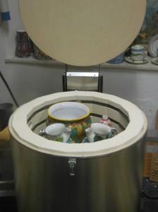 apertura forno dopo 2° cottura ceramica