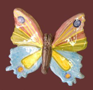 Farfalla da appendere in ceramica