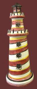 Faro soprammobile in ceramica