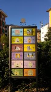 arredo urbano: cartello in ceramica siti di interesse turistico S. Margherita Ligure