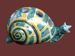 Lumaca soprammobile in ceramica