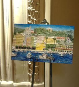 Rilievo di S. Erasmo esposto alla Mostra a Genova