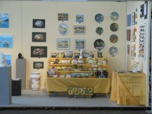 Esposizione ceramica alla 156 mostra del Tigullio, Chiavari