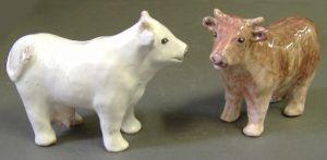Mucche da collezione in ceramica