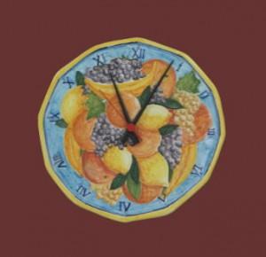 orologio da cucina con frutta