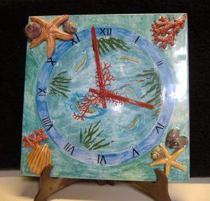 Orologio ceramica fatto a mano