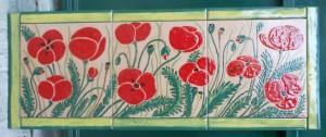papaveri rossi dipinti su piastrelle