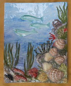 Rilievo marino in ceramica fatto a mano