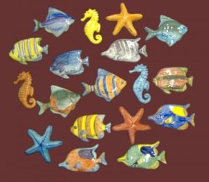 pesci in ceramica da appendere
