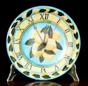 piatto orologio con limoni