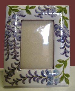 Portafoto dipinto a mano in ceramica