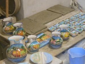 stadi differenti della ceramica