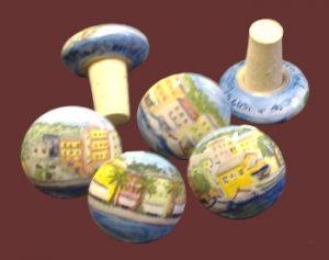 Tappi in ceramica dipinti a mano con sughero per bottiglie di vino