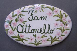 Ceramica per casa, targhetta per portone, nominativo residenti