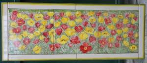 quadrodi piastrelle con tulipani