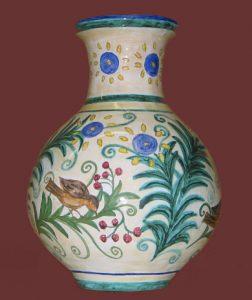 Vaso made in Italy, dipinto a mano