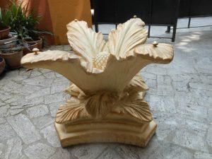 Palma nana piede per tavolino in vetro da salotto