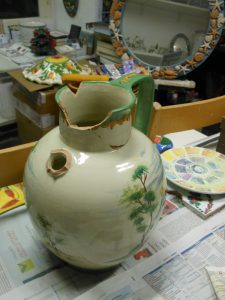 Orcio in ceramica restauro